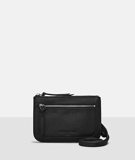 Grained leather shoulder bag from liebeskind