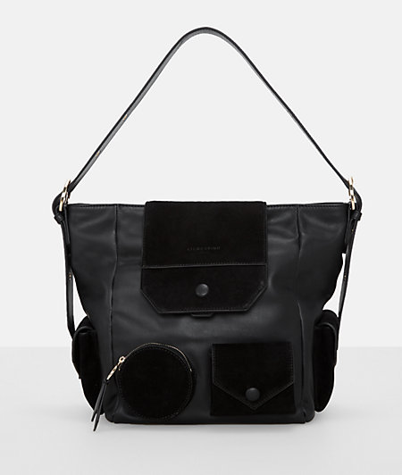 Mixed leather hobo bag with extra pockets from liebeskind