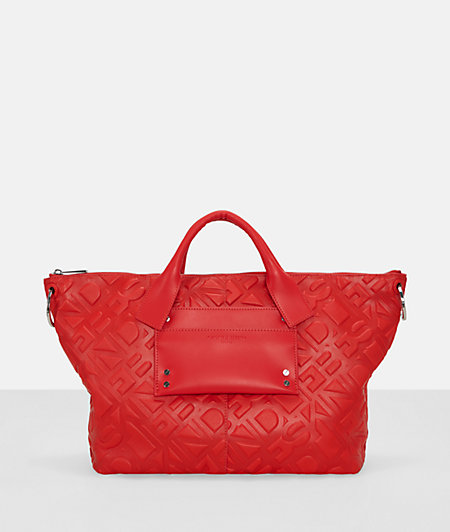 Handtasche mit Logoprägung