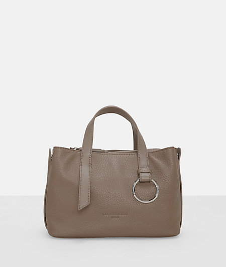 Grained leather handbag with metal decoration from liebeskind