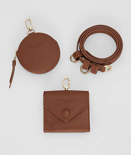 Leather belt with pockets from liebeskind