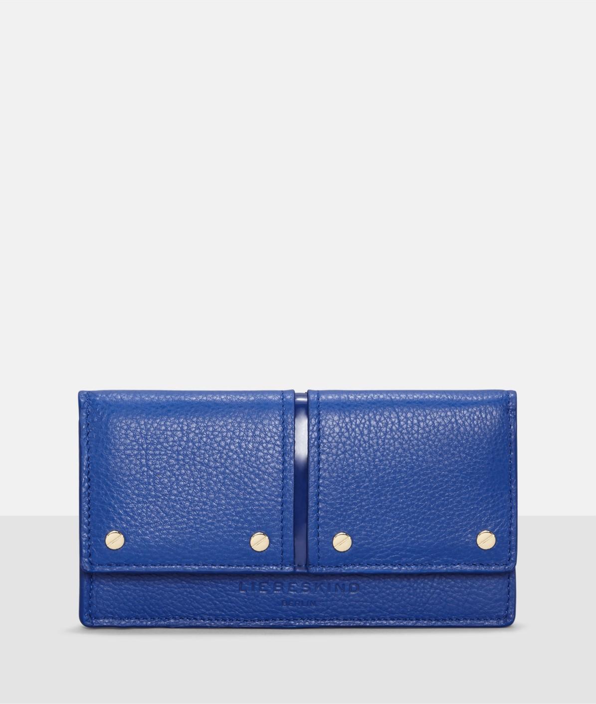 Portemonnaie mit Lackleder-Details
