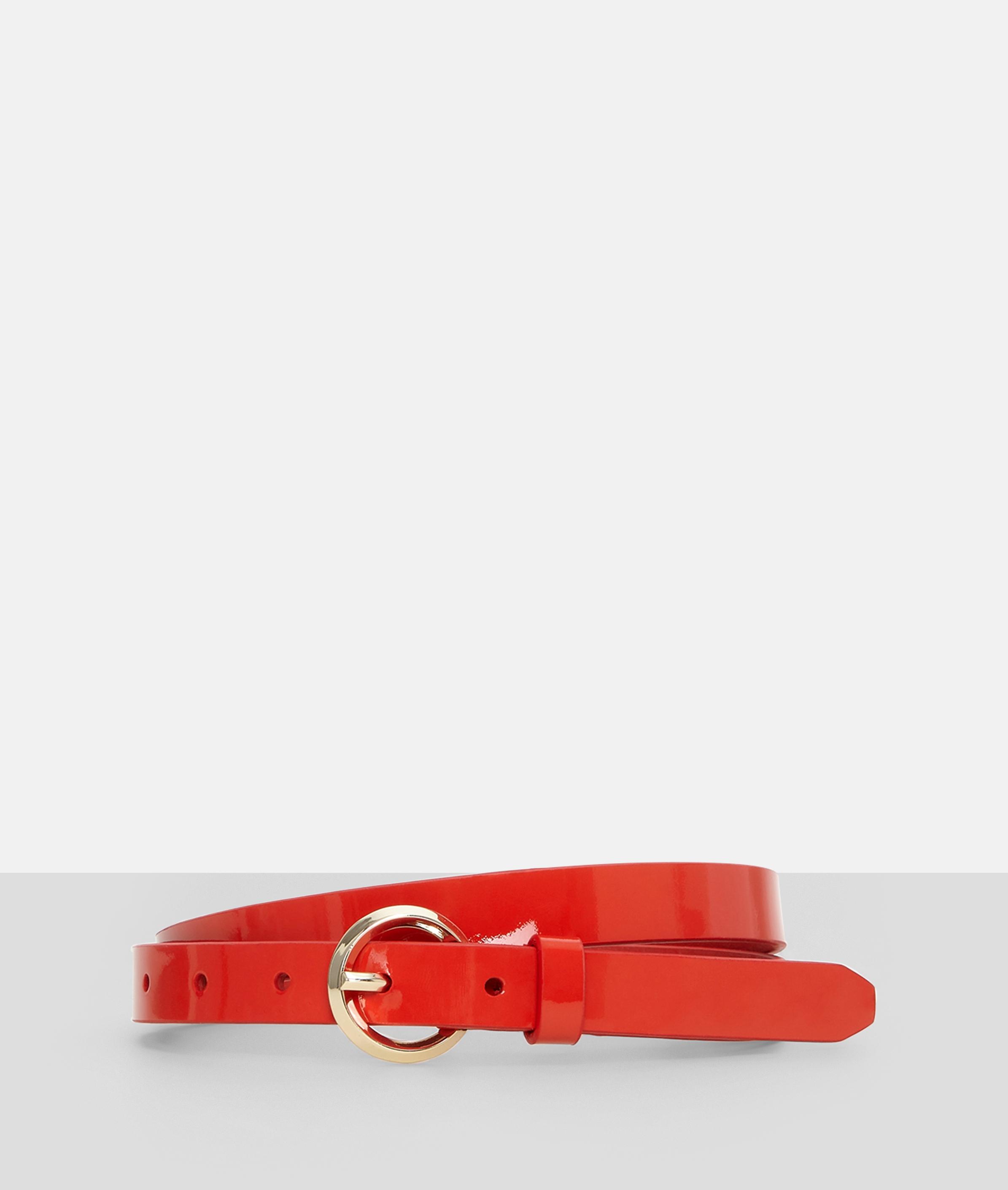 liebeskind berlin - Ledergürtel mit Lack, Rot, Größe 100