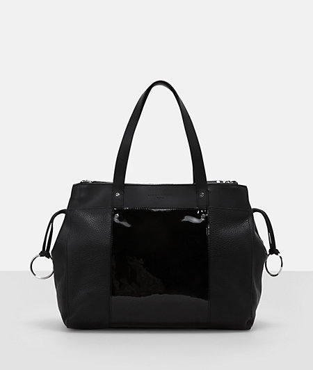 Shopper with a shiny finish from liebeskind