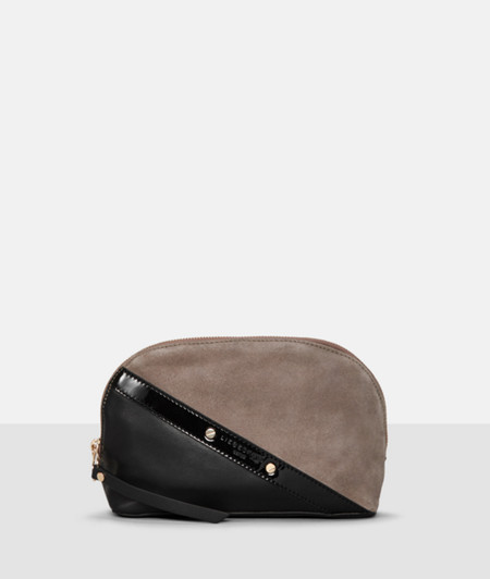 Make-up bag with a patent trim from liebeskind