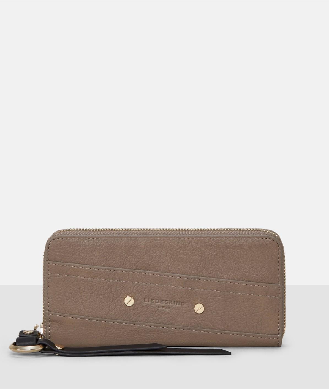Portemonnaie mit diagonalen Ziernähten
