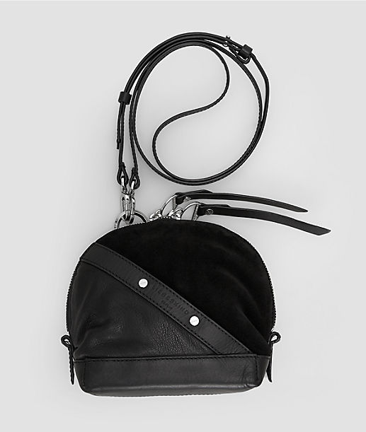Mixed fabric shoulder bag from liebeskind