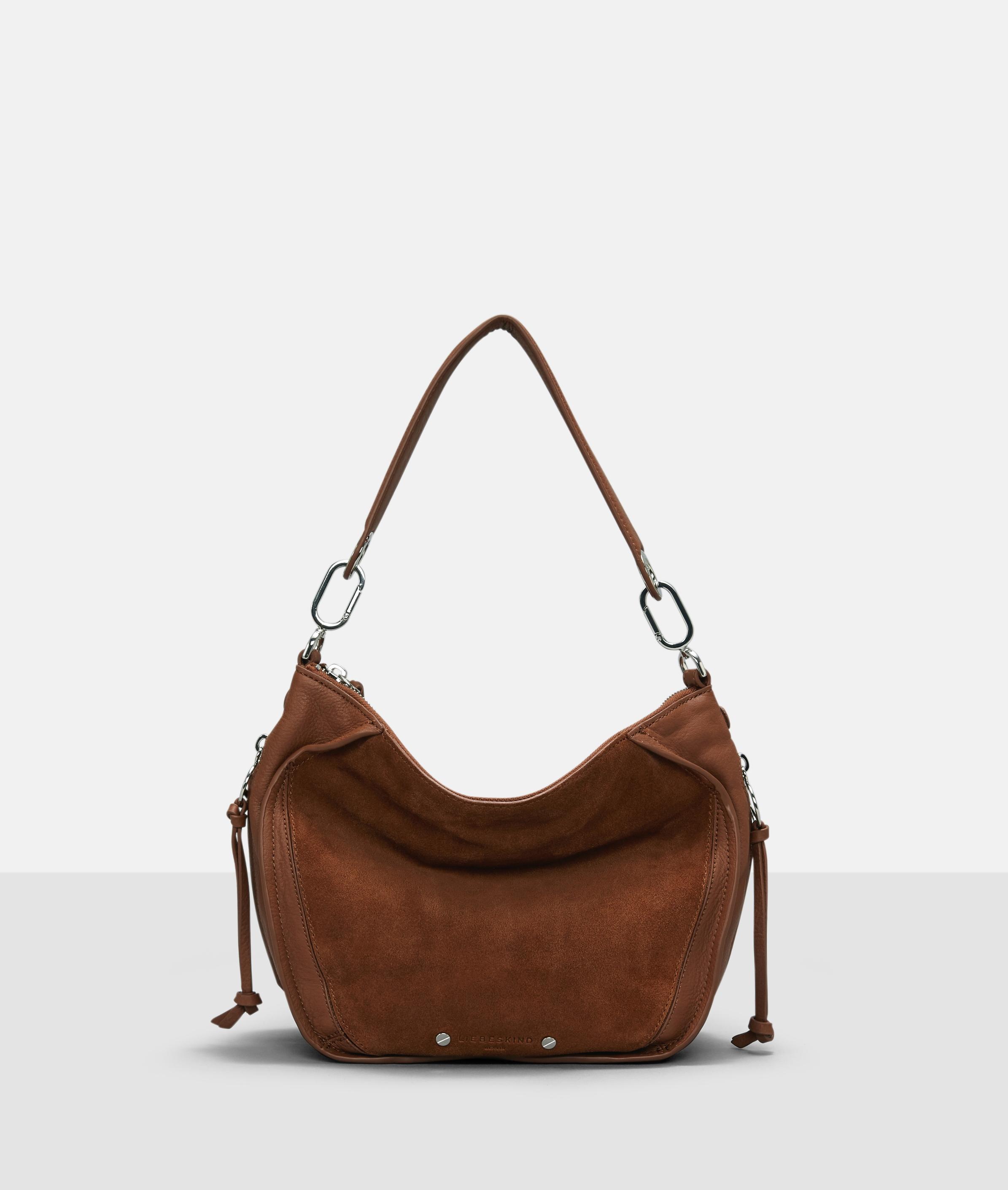 Berlin Tasche Saddy Suede Crossbody Bag S, Braun