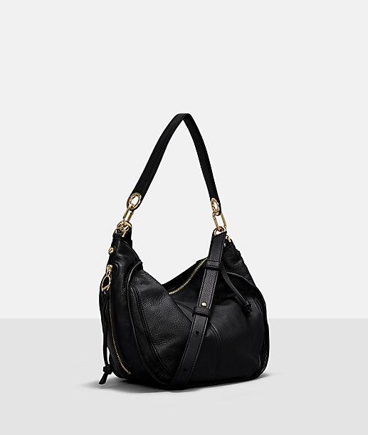 Handtasche mit Wildledereinsatz