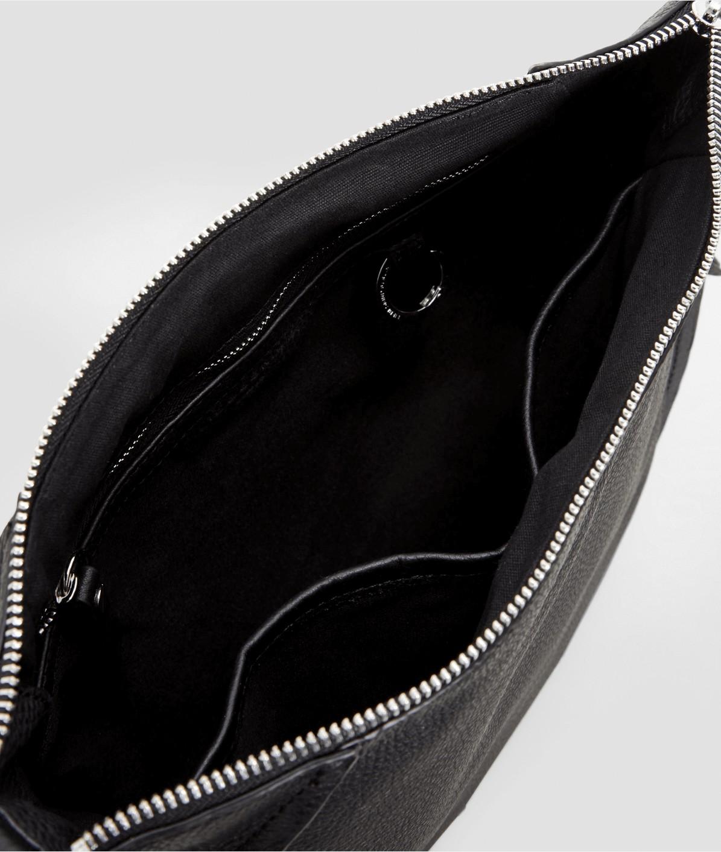 Schultertasche mit seitlichen Zip-Fächern