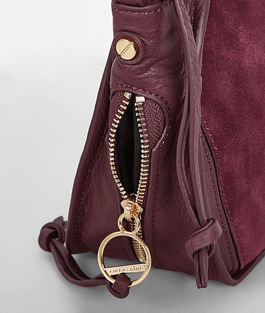 Schultertasche mit seitlichen Zippertaschen