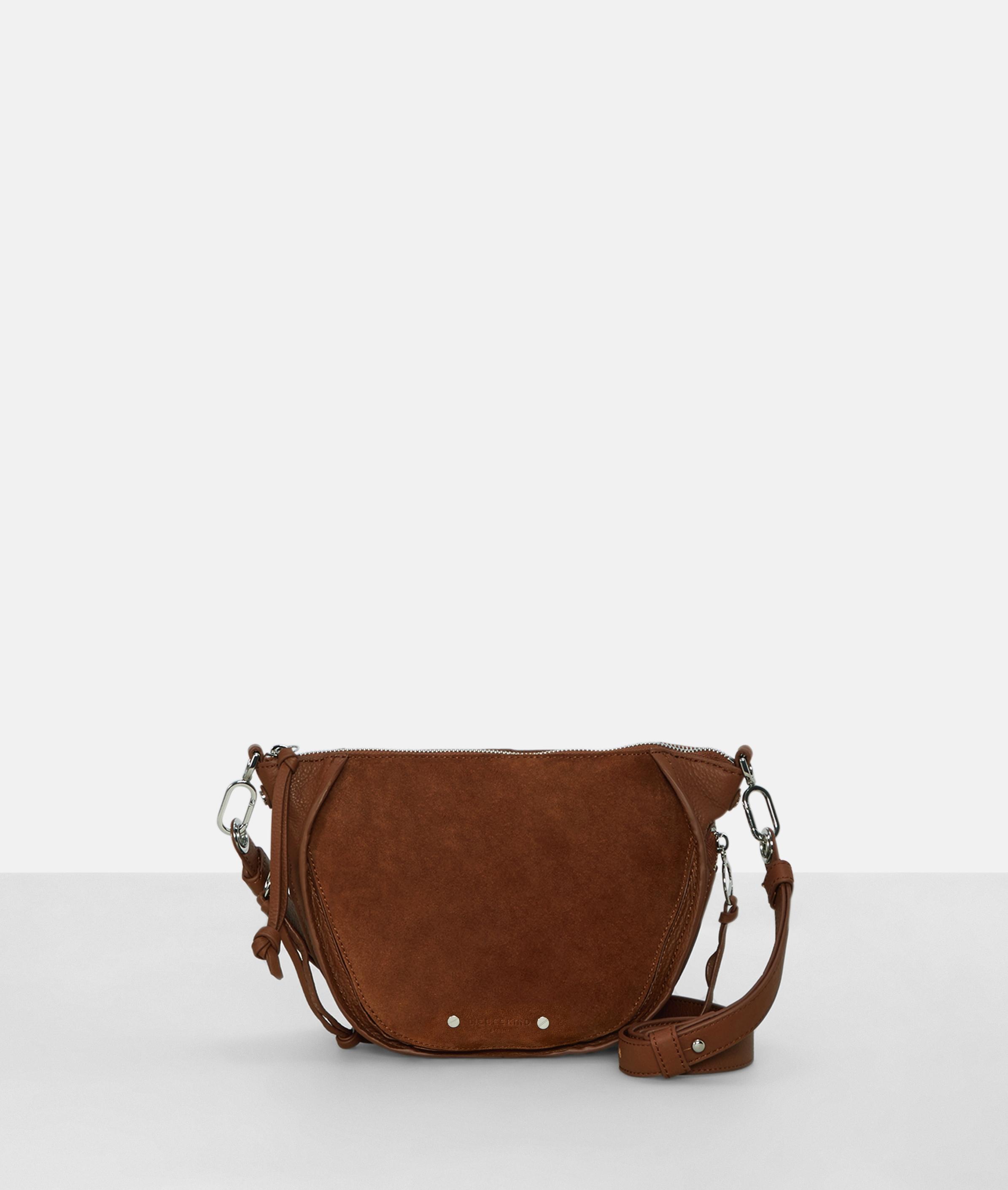 Berlin Tasche Saddy Suede Crossbody Bag XS, Braun