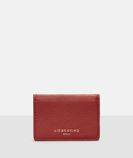 Business card holder with an embossed logo from liebeskind