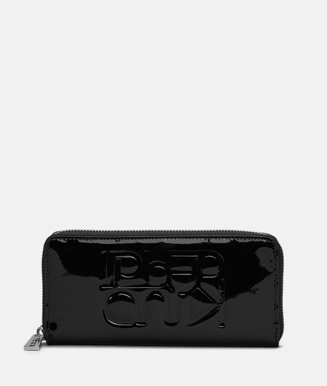 Portemonnaie aus Lackleder
