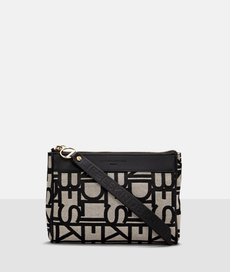 Make-up bag with all-over logo embossing from liebeskind