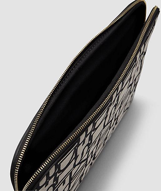 Laptoptasche mit Allover-Logoprägung