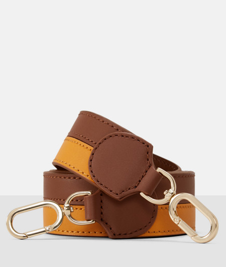 Two-tone shoulder strap in leather from liebeskind