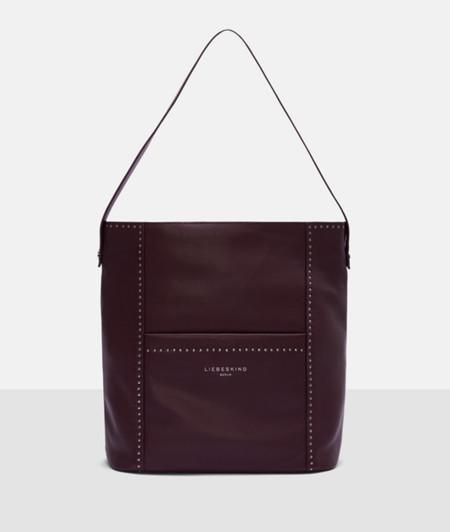 Hobo Bag mit Metallbesatz