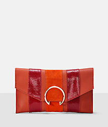 Clutch with a large ring fastening from liebeskind