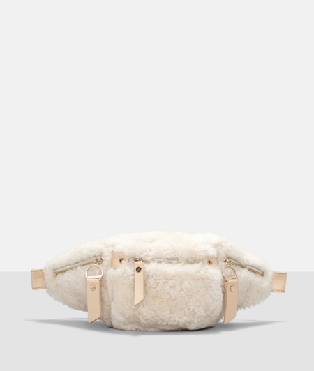 Belt bag with shearling from liebeskind
