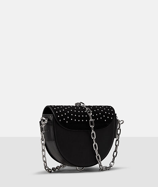 Shoulder bag with a stud trim from liebeskind