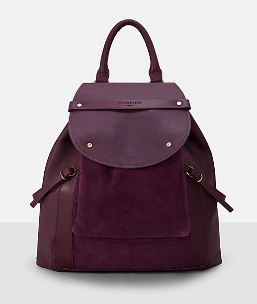 18297a0257a25 ... Rucksack with suede inserts from liebeskind ...