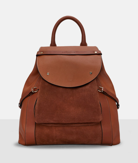 Rucksack with suede inserts from liebeskind