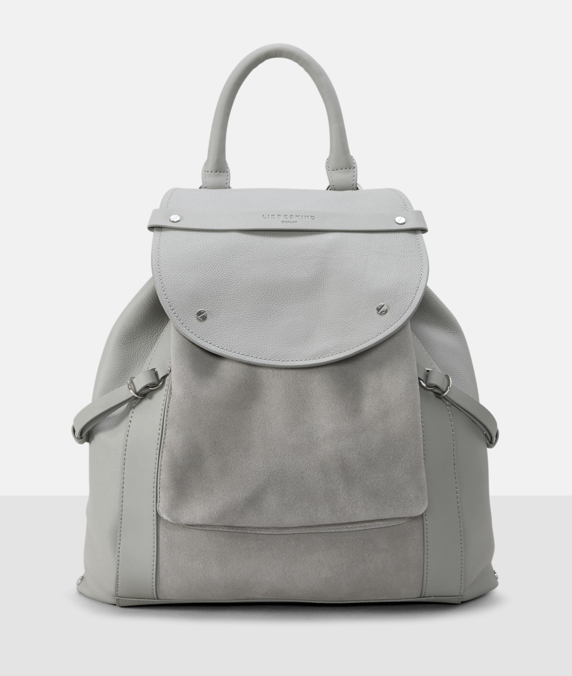 Berlin Tasche New Saddle Backpack M, Grau/Schwarz