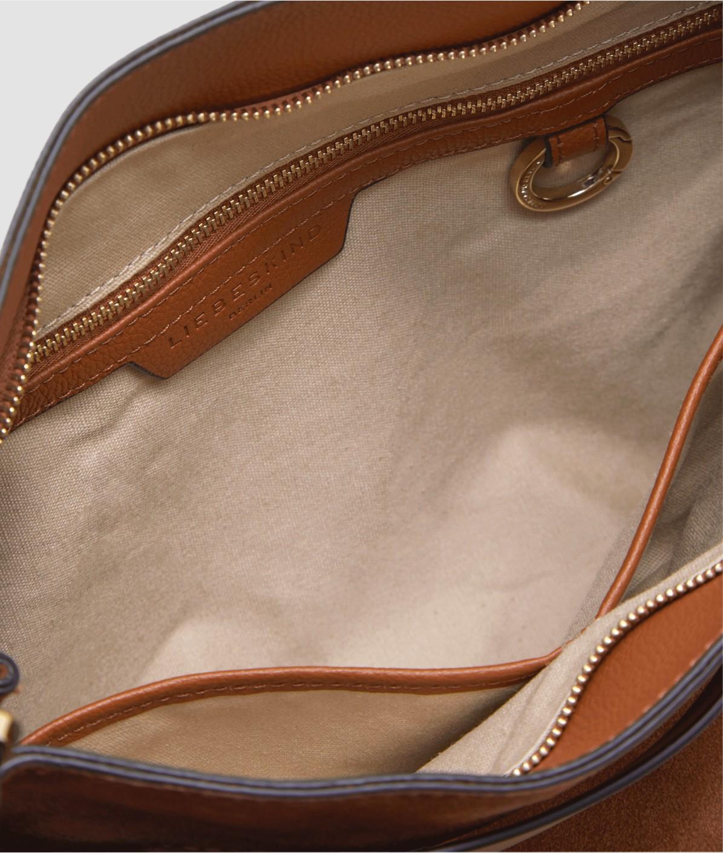 Schultertasche aus Ledermix