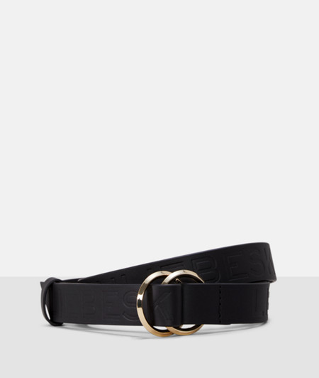 Leather belt with a distinctive embossed logo from liebeskind