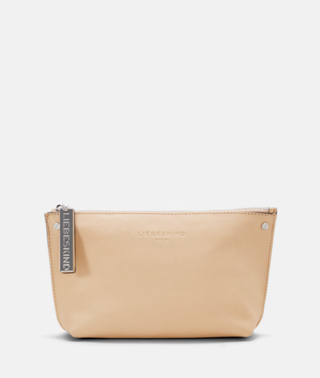 Make-up bag with a statement zip from liebeskind
