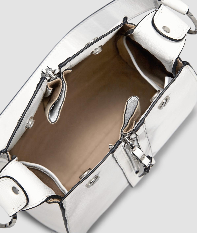 Henkeltasche mit Statement-Zipper