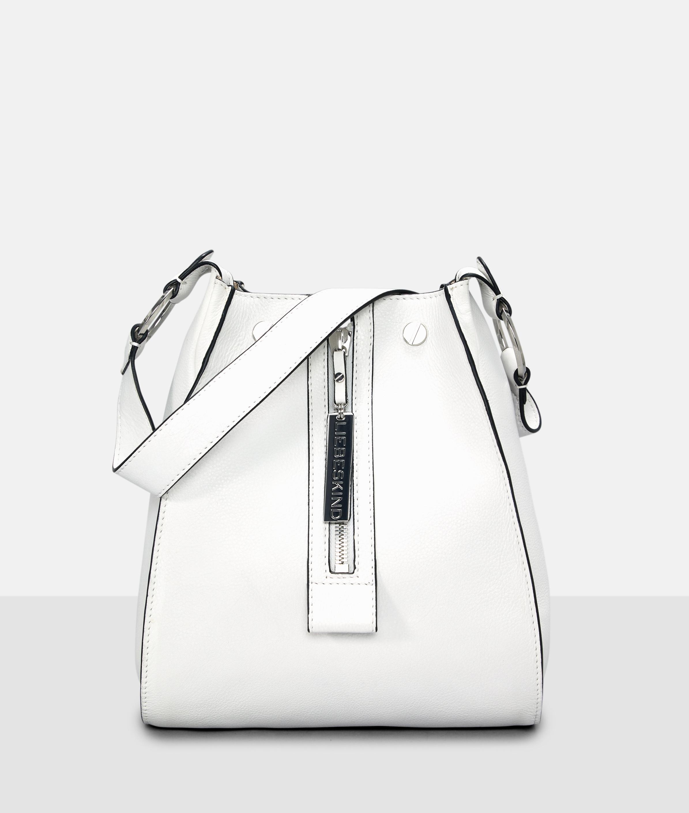 Berlin Tasche Front Zip Hobo M, Weiß