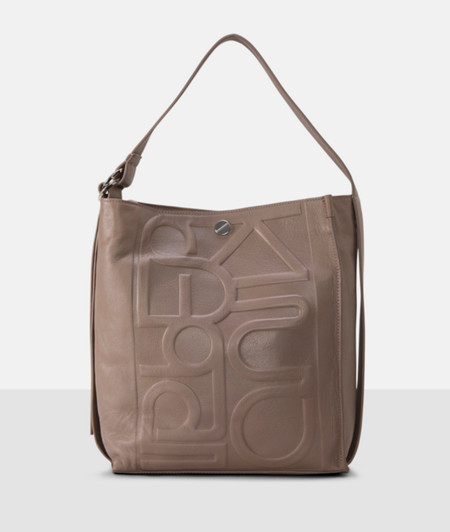 Handbag with an embossed logo from liebeskind