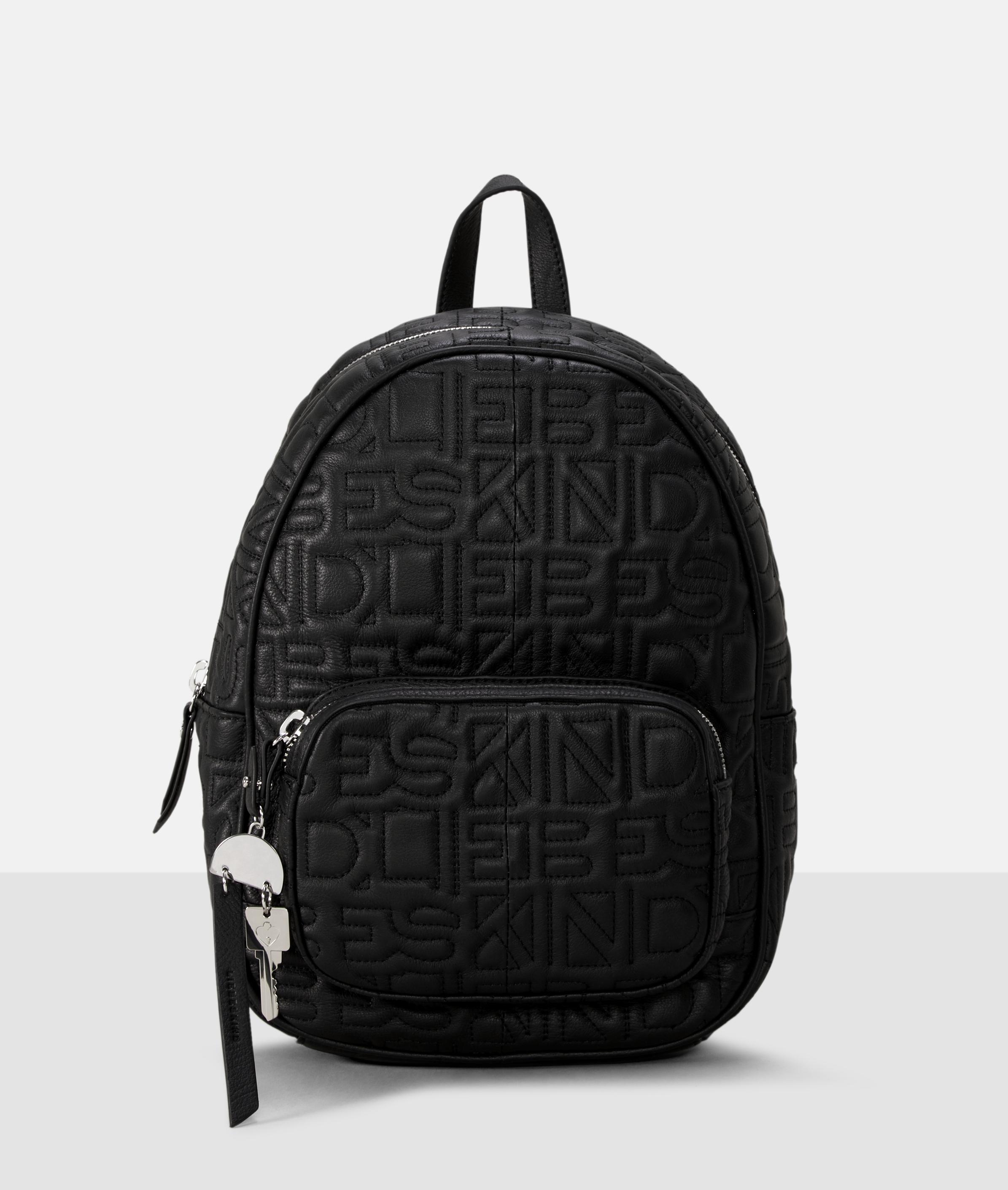 Berlin Tasche Urban Monogram Backpack M, Grau/Schwarz