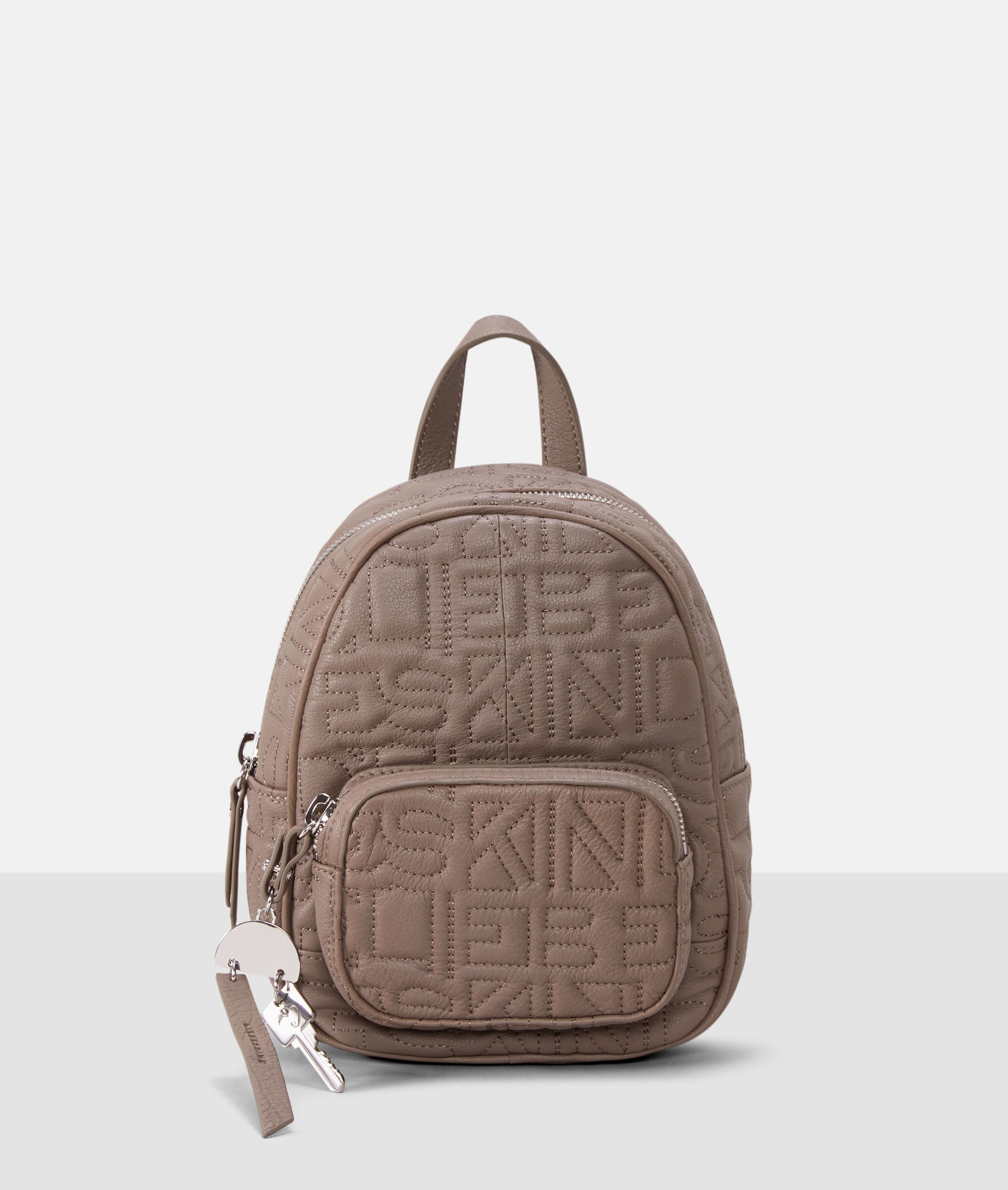 Berlin Tasche Urban Monogram Backpack S, Grau/Schwarz