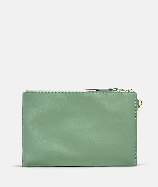 Clutch bag with patch pockets on the outside from liebeskind