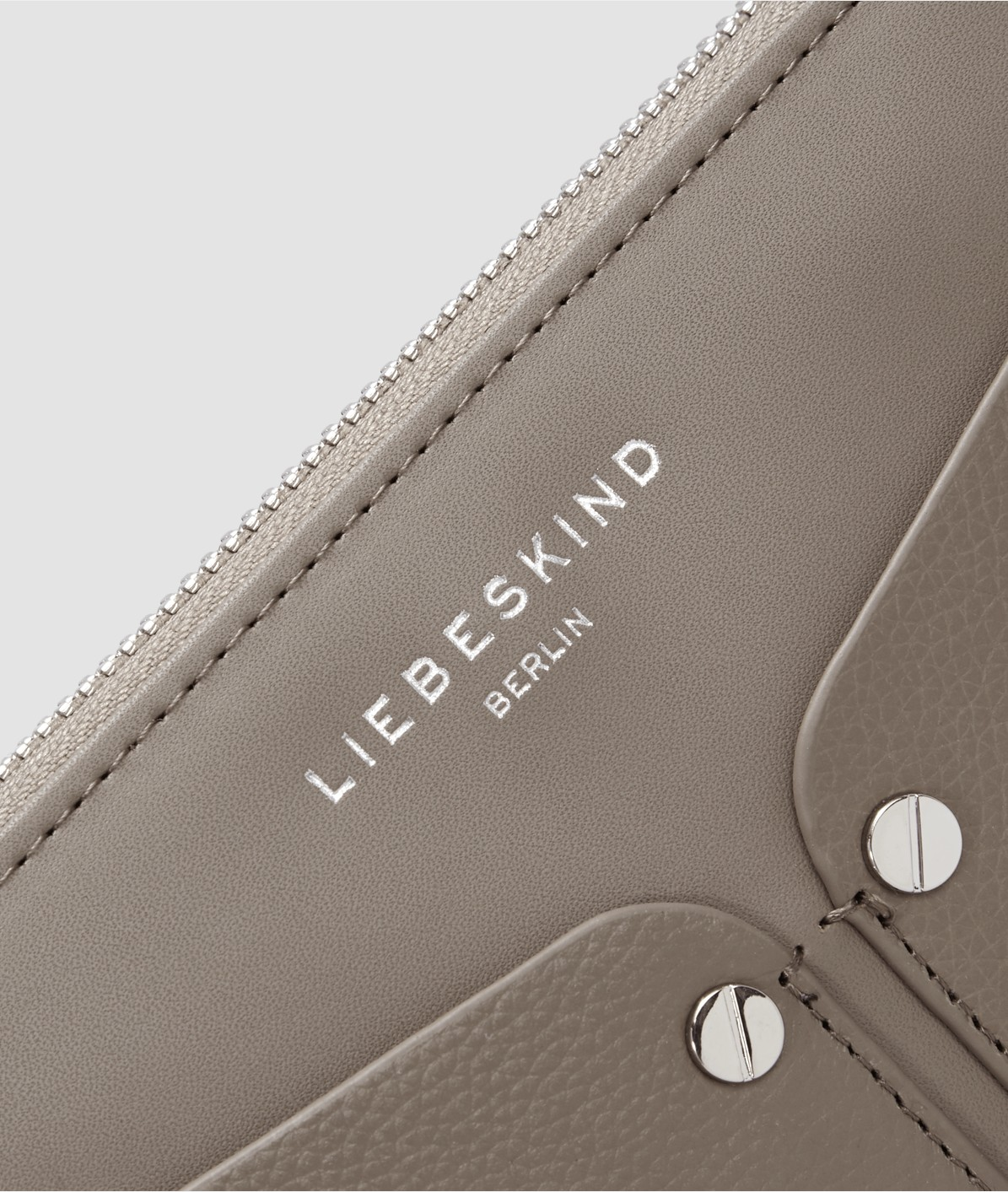 Wallet with patch outside compartments from liebeskind