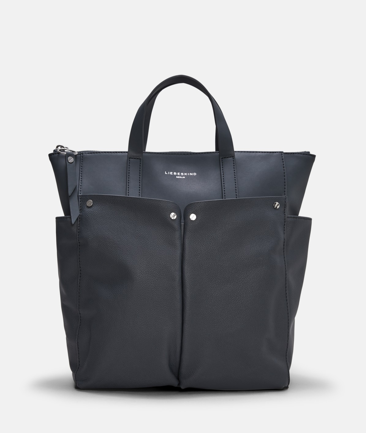 Rucksack with patch pockets on the outside, can be converted into a handbag from liebeskind