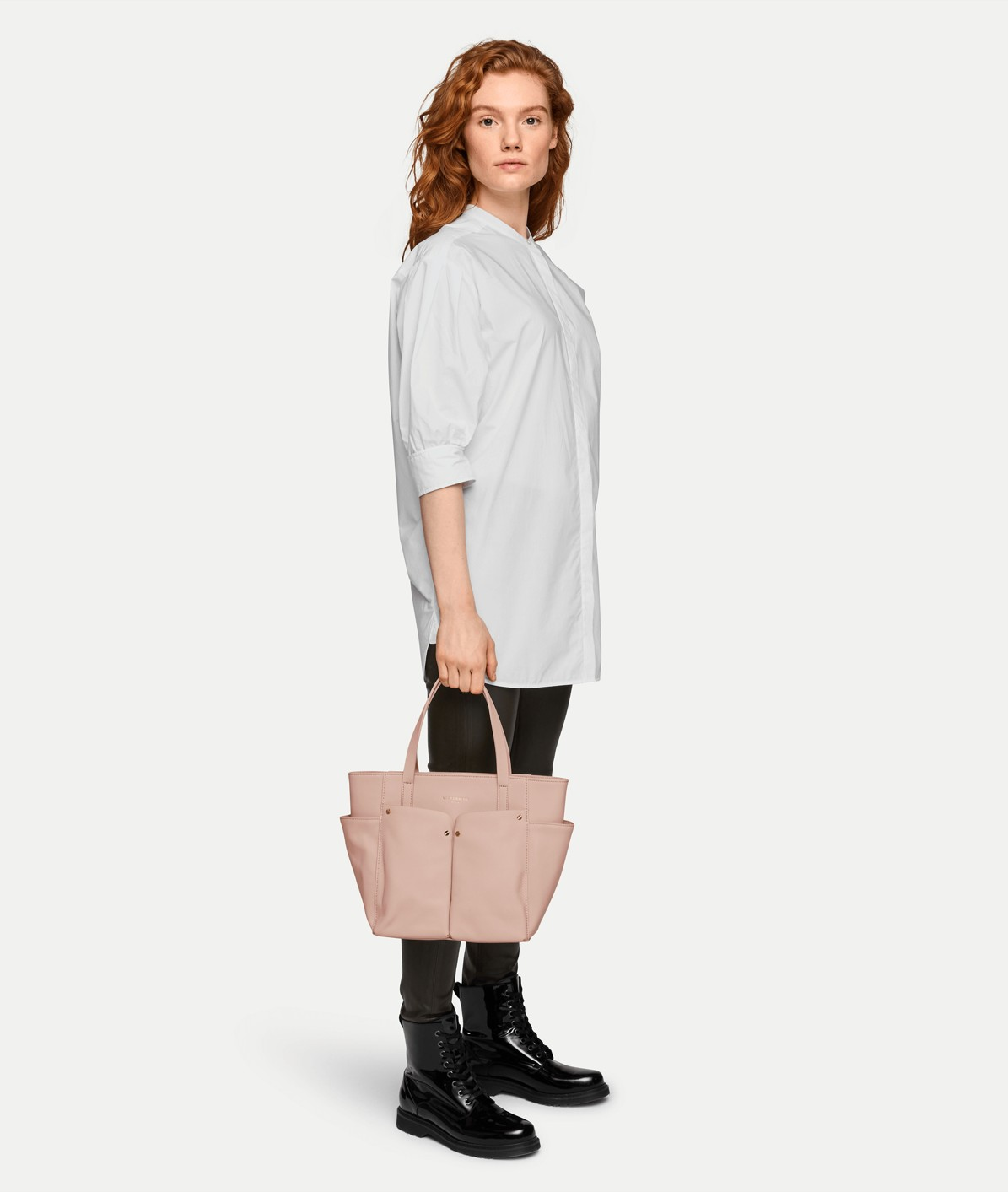 Shopper with patch outside compartments from liebeskind