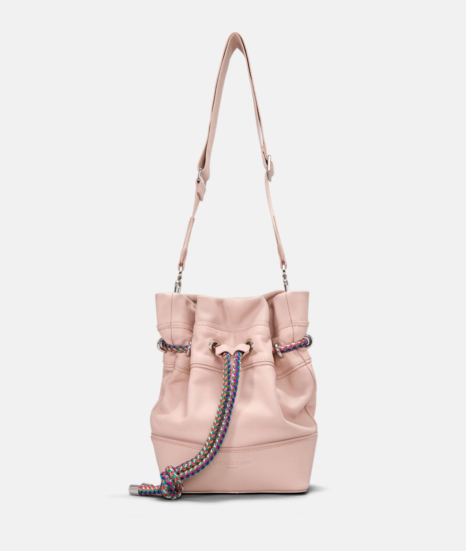 Bucket Bag mit Zugband aus Nylonschnur