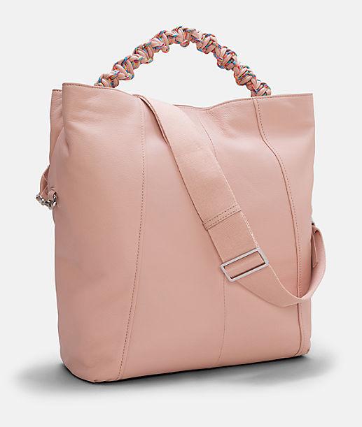 Hobo Bag mit Neoprenfutter und handgeknüpftem Henkel