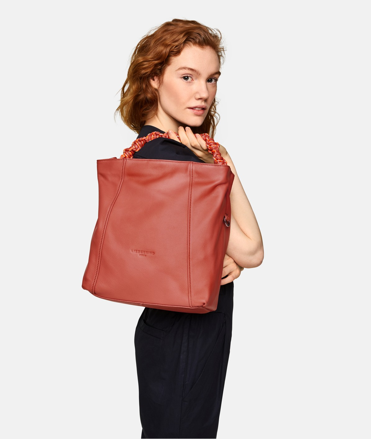 Hobo Bag with neoprene lining and a hand-woven handle from liebeskind