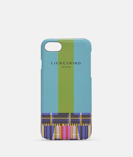 Handyhülle für iPhone7/8 aus bedrucktem Leder