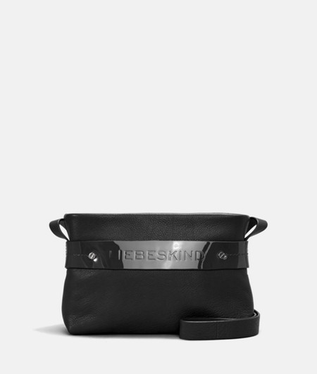Shopper with contrasting patent leather strap from liebeskind
