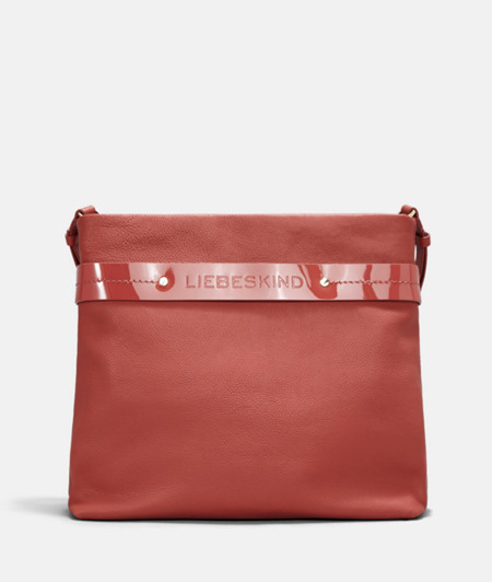 Hobo bag with contrast patent leather strap from liebeskind