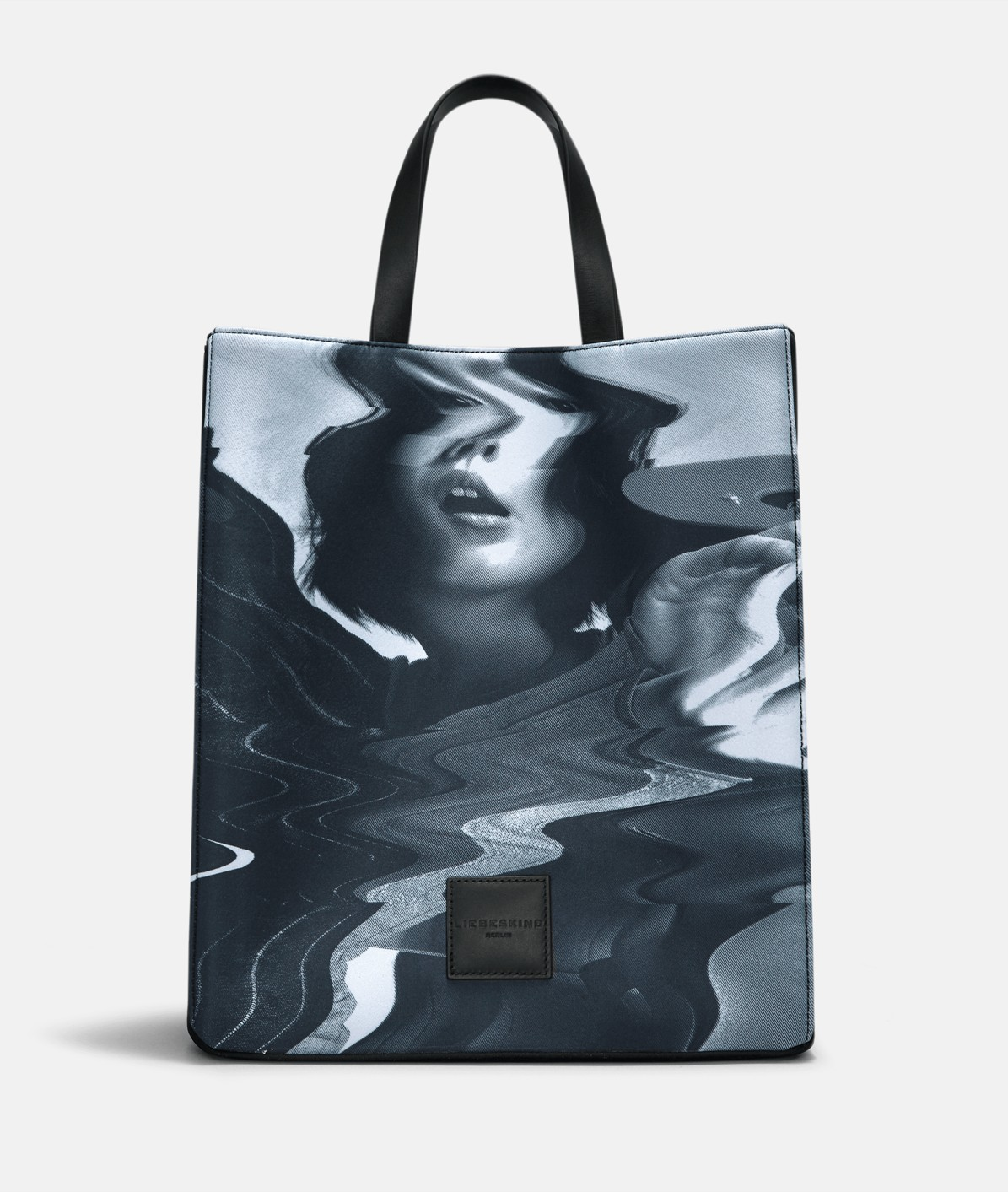 Neoprene tote bag with a monochrome print from liebeskind