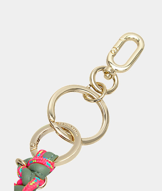 Key ring with hand-woven pendant from liebeskind