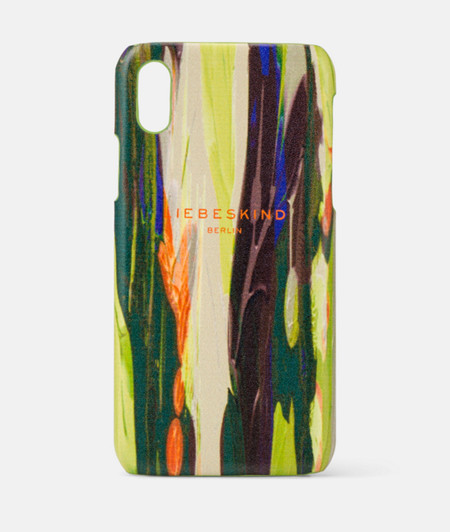 Smartphone case in printed leather from liebeskind