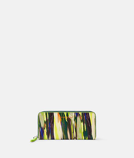 Geldbörse aus bedrucktem Leder